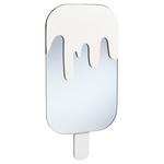 Spiegel ICE CREAM - Wit - Hout / Glas - 44 x 22 x 1.6 cm