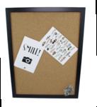 Red Hart - Prikbord en punaises met zwarte omlijsting - 43x33x2 cm
