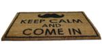 Red Hart - Deurmat met tekst 'Keep Calm and come in' - Kokosmat - 40x60cm