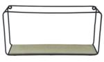 Red Hart - Metalen wandrek Dorothea (Maat M) - Hout- Zwart - 35.5x17.5x9.5cm