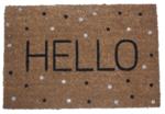 Deurmat met tekst 'Hello' - Kokosmat - 40x60cm