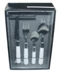 12 delig bestekset - 3 personen - Wit/Zilver - Excellent Houseware - bestek - mes - vork - lepel