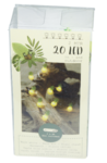 Decoratieve lichtslinger - Ananas - Geel / Groen - 20 led lampen - 2m - Lichtketting
