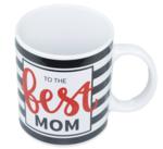 """Mok met tekst """"To the best MOM"""" - Wit - Porselein - Beker"""