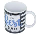 """Red Hart - Mok met tekst """"To the best DAD"""" - Wit - Porselein - Beker"""