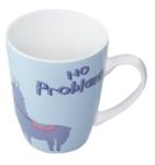 "Mok met Lama en tekst ""No Problama"" - Blauw - Porselein - Beker"