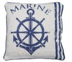 Sierkussenhoes Marine - Set van 2 - Blauw/Wit - 45x45cm