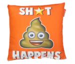 "Emoji - Emoticon - Smiley - Kussenhoes - ""Shit Happens"""