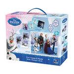 Disney Frozen 3 in 1 - Domino, Memory en een Puzzel