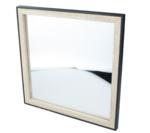 Spiegel Allard - Zwart/Bruin - Hout - 30x30cm - Vierkant - Wandspiegel