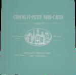 Luxe vintage onderzetter met tekst OLIVIA - Blauw - MDF - set van 4