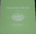 Luxe vintage onderzetter met tekst OLIVIA - Groen - MDF - set van 4