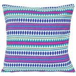 Sierkussenhoes Ibiza - 40x40 - Blauw/Multicolor