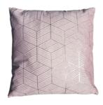 Sierkussen met diamant motief ZIVA - Roze / Goud - 45 x 45 cm - Katoen