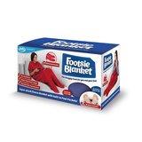 JML Footsie Blanket - Rood - fleece deken, deken met voetzakken - booties 3