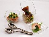 Sabert mini Amuse tasting kommetje - Zilver - Kunststof - 5.5 x 5.5 x 3 cm - Set van 20-3