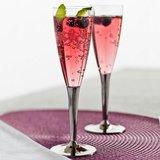 Sabert Champagne glazen - Transparant / Zilver - Kunststof - 10 cl - Set van 6