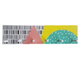 Kapstok KOOS - Multicolor - Hout - 40 x 10 x 5 cm