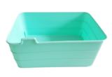 Flexibele opbergmandjes GINO - set van 3 - Turquoise - Kunststof -  18 x 13.5 x 7.5 cm