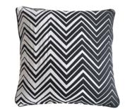 Sierkussenhoes met zigzag motief ZENO - Zwart / Wit - 45 x 45 cm - Katoen