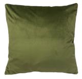 Sierkussenhoes Velours GIOVANNI - Groen - 45 x 45 cm - Polyester