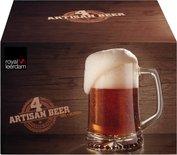 Royal Leerdam Artisan Bierpul - Transparant - Glas - Set van 4 - 32 cl