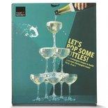 Royal Leerdam - Let's Pop champagne glazen - Transparant - Set van 10