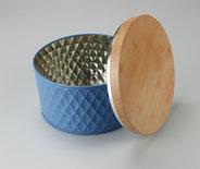 Opbergblik met patroon JENS - Blauw - Maat L