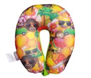 Emoji nekkussen - Groen - 27 x 24 cm