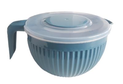 Beslagkom met deksel - Blauw - Mengkom - Kunststof - 3.5 L
