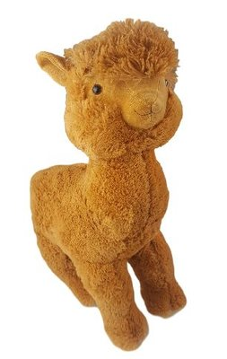 Pluche alpaca knuffel - Bruin - 50cm Hoog