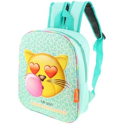 Emoji Cat Rugzak - I am very Bubblelicious  - Turquoise - 27 x 10 x 32 cm