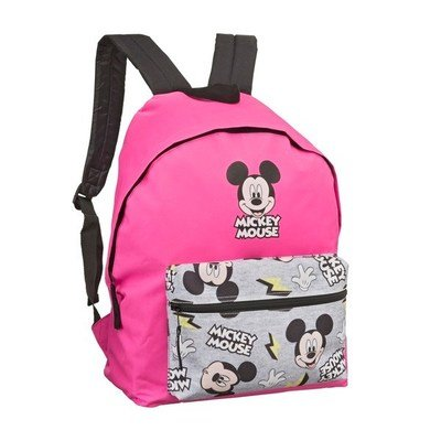 Mickey Mouse Rugzak rugzak - Roze / Grijs - Polyester - 33 x 18 x 40