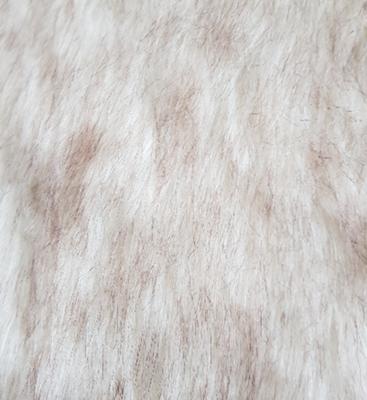 Konijnenvacht ILJA - imitatie bont - Wit / Bruin - 25 x 40 cm
