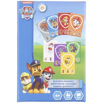 PAW Patrol kleuren kwartet - Blauw / Multicolor - Karton - 32 kaartjes - Spel