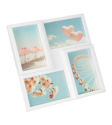 Collagelijst HEIKO - Wit - Kunststof / Glas - 4x 10 x 15 cm