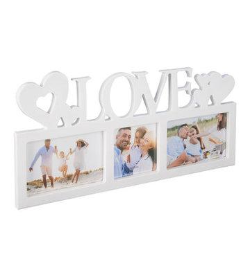 Fotolijst LOVE VIVIAN - Wit - Kunststof - 44 x 20 x 1 cm - Collage
