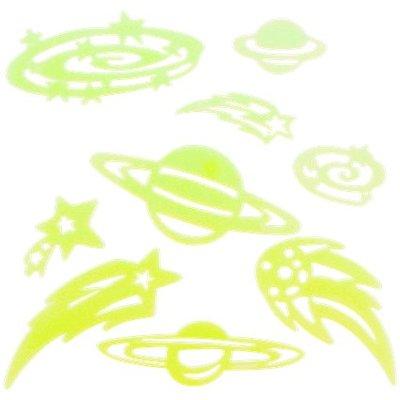 Glow in the dark planets - Groen - Kunststof