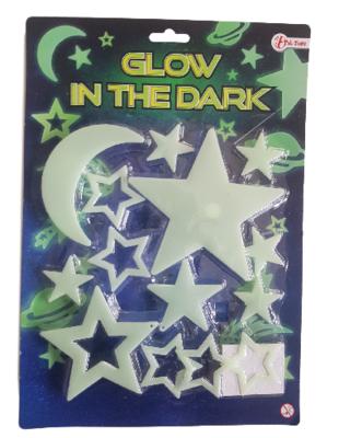 Glow in the dark Moon and stars - Groen - Kunststof