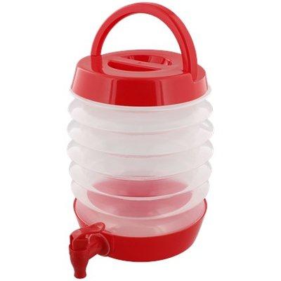 Opvouwbare container met tapkraan FLORIAN - Rood - 3.3 L - Water Tap