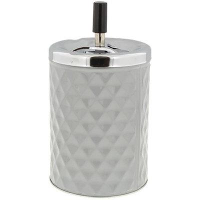 Asbak met drukknop RICCO - Grijs / Zilver -  Ø 11 x 19.5 cm