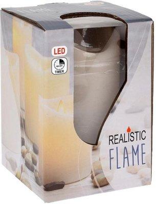 LED kaars IGOR - Crème - Ø 7.5 x h 12.5 cm