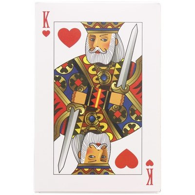Speelkaarten XL - Multicolor - Karton - 12,5 x 19 cm