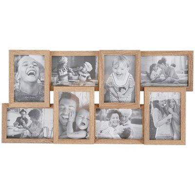 Fotolijst voor 8 foto's IVAN - Bruin - MDF - 58,5 x 28,5 x 3 cm