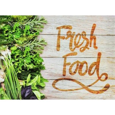 Snijplank Fresh Food Herbs - Multicolor - Glas - 30 x 40 cm
