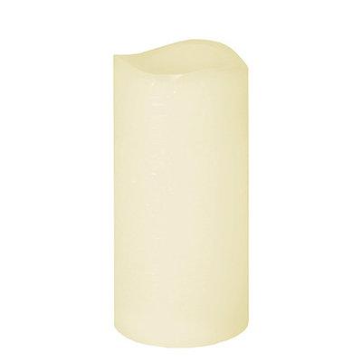 Rustieke LED kaars MINK - Crème - Ø 7.5 x h 15 cm