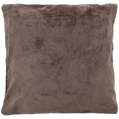 Sierkussenhoes Velours GIOVANNI - Donkergrijs - 45 x 45 cm - Polyester