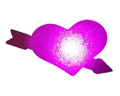 Hart met pijl lampje - Roze - Kunststof - 23 x 5 x 13.5 cm