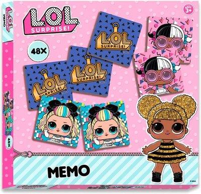 L.O.L. Surprise Memory - Multicolor - Karton - 48 kaartjes - Spel