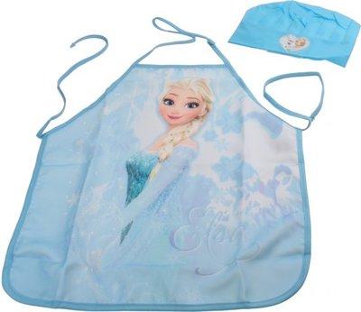 Frozen Kookset met keukenschort en Koksmuts - Blauw - Polyester
